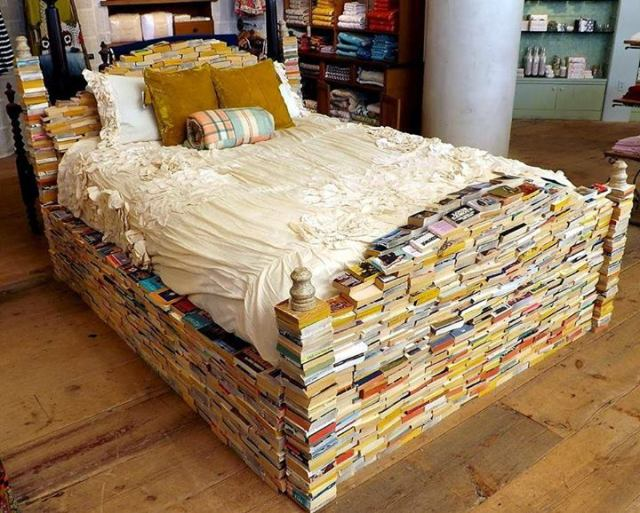 A bed for bookworms