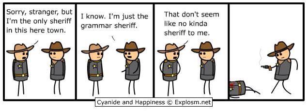 The Grammar Sheriff