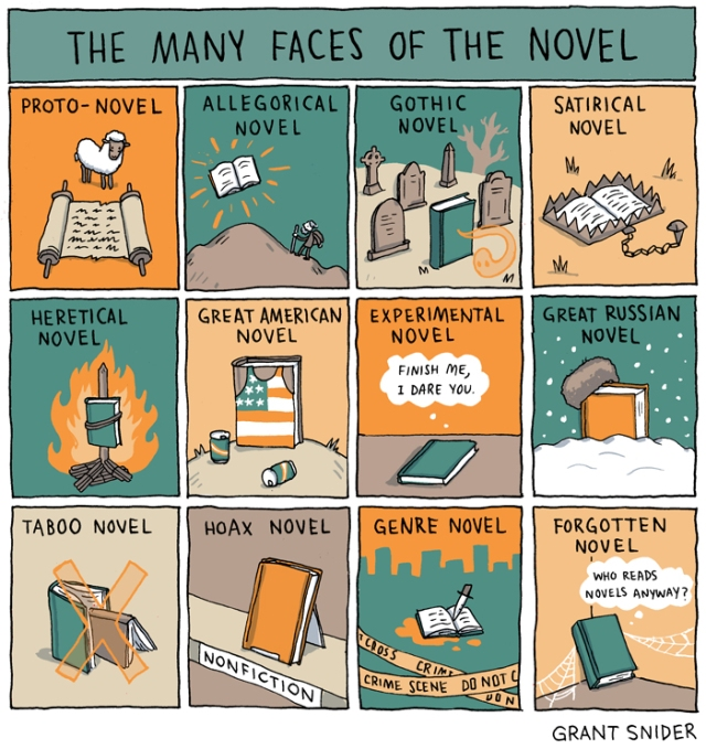 Faces of the novel