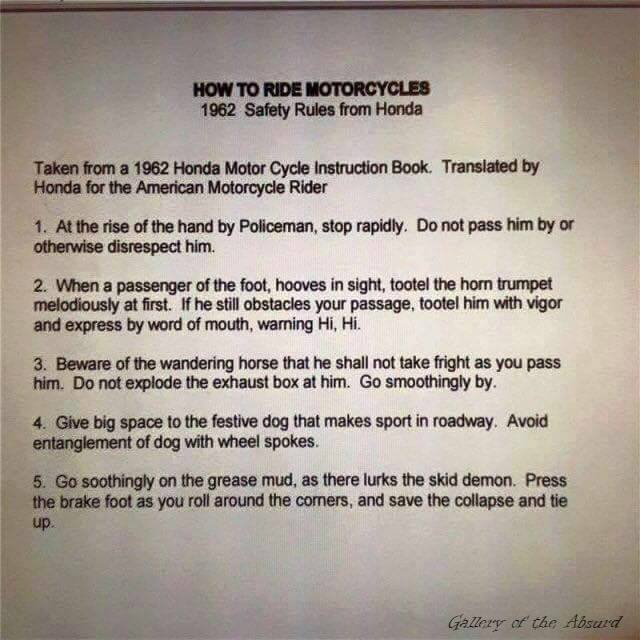 1962 safety rules