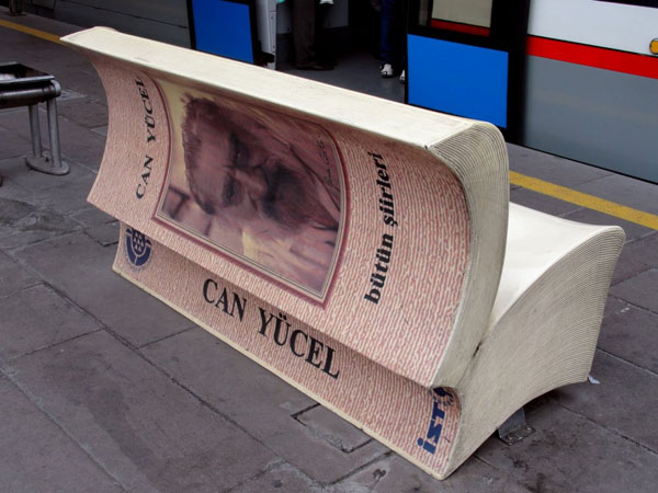 A book shaped bench