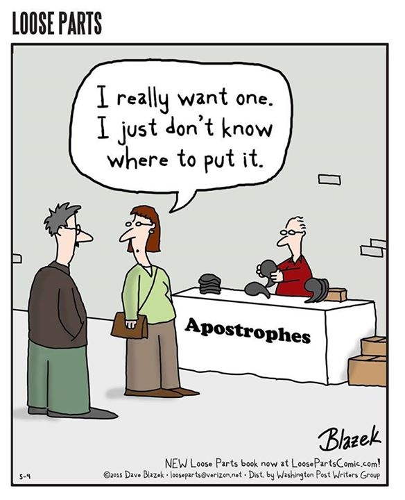 Where will you put your apostrophe