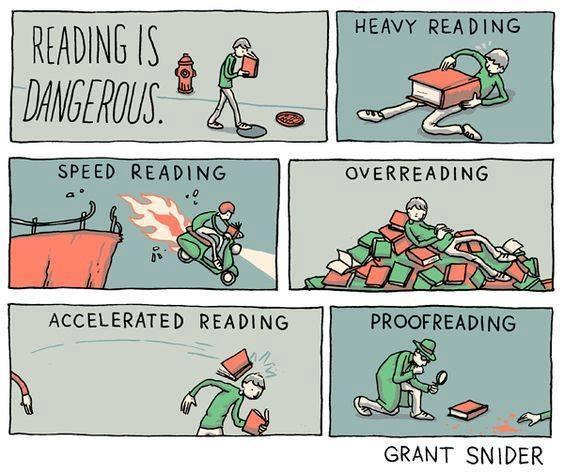 Reading is dangerous