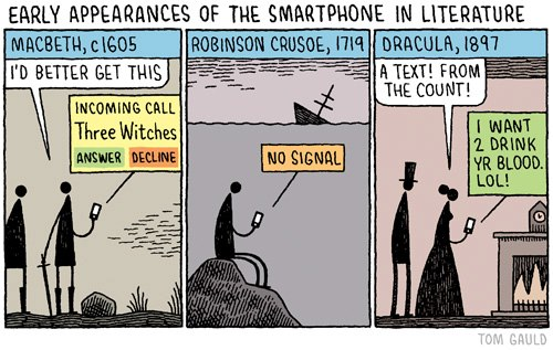 Early appearances of the smartphone in literature