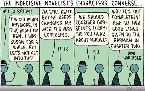 The indecisive novelist
