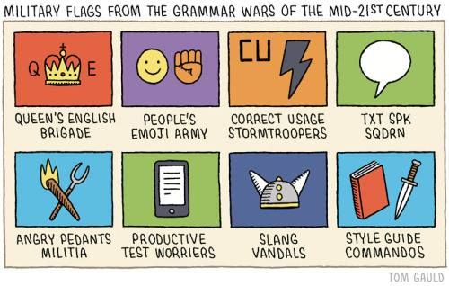 Flags from the grammar wars