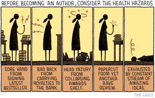 Health hazards of being an author