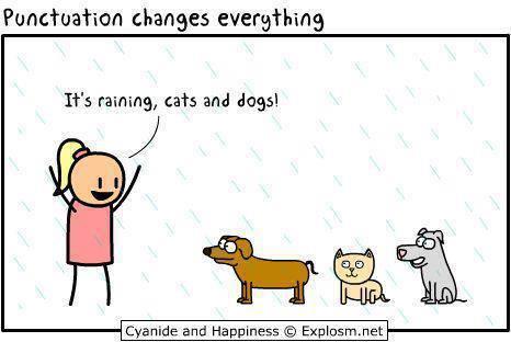 Punctuation matters...