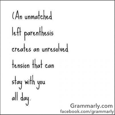 an-unmatched-parenthesis